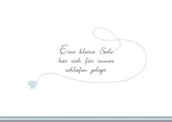 Text Trauerkarte Kind